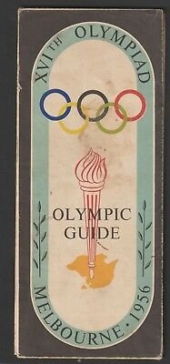 Melbourne 1956 Olympic Games Tourist Guide Map. Huge.