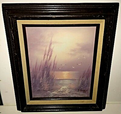 B. Duggan (Bernard) Signed Original Oil Painting Seascape On Board