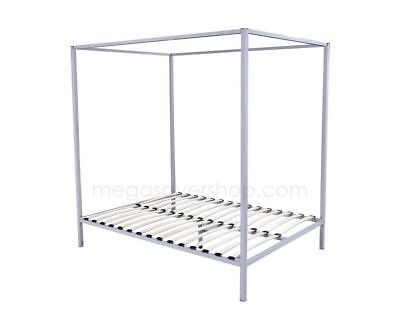 Premium Four Poster Bed Frame Queen Steel Construction