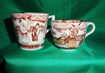 Collectable Chinese Export Tea Cups - pair