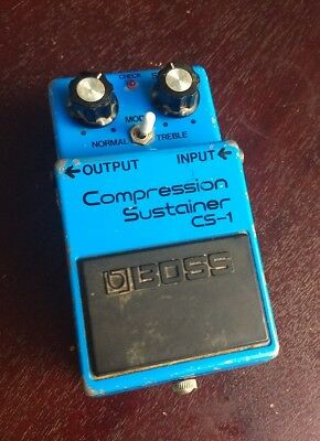 1980 Boss CS-1 Compression Sustainer Made in Japan MIJ Vintage Effects Pedal