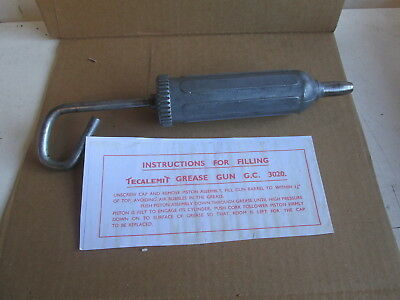 Telcalemit Grease Gun With A Copy Of The Original Filling Instructions (B)