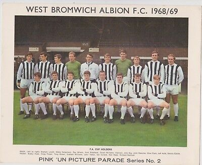 West Bromwich Albion Team 68/69 Northampton Pink Un No 2 10 X 8 Inches Good