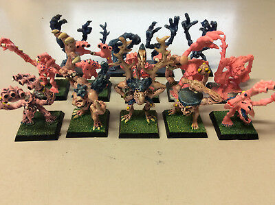 Warhammer Blue and Pink Horrors of Tzeentch OOP Oldhammer x 14 painted