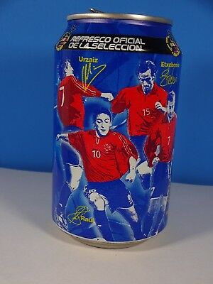 c2001 Pepsi Cola Steel Can Spain Spanish Football Soccer Players 33 cl