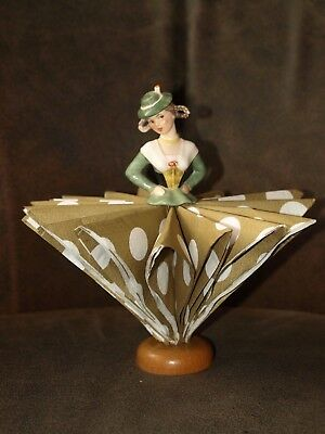 Goebel Hummel Vintage Figurine Napkin Tree Holder doll Rare Half Doll