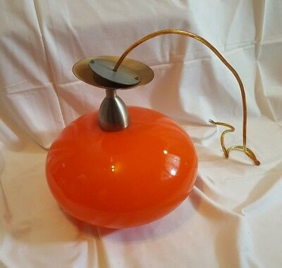 60/70er Jahre Lampe original Glas Orange