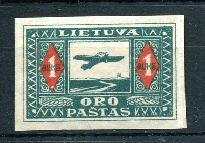Lithuania 1925 Junkers airmail imperf single MNH