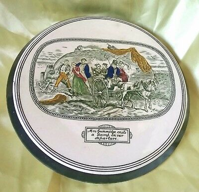 Vntage 1896-1916 Adams Tunstall England Teapot Stand Illustrations From Dickens