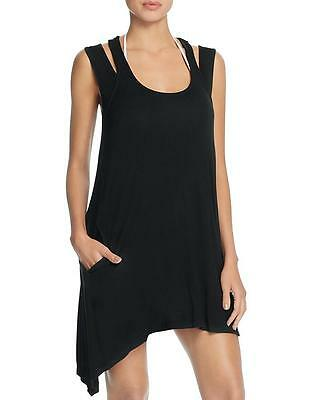 03c4294778 NWT NEW J Valdi Black Racer Back Swimsuit Cover Up Dress Small mh03 ...