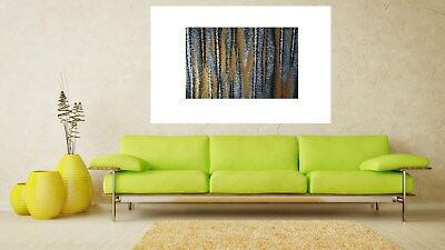 Poster print aboriginal inspired gold abstract Australia art by jane crawford