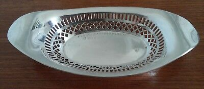 "Sterling Silver Pierced Tray 111 Grams 8 1/4"" Long"