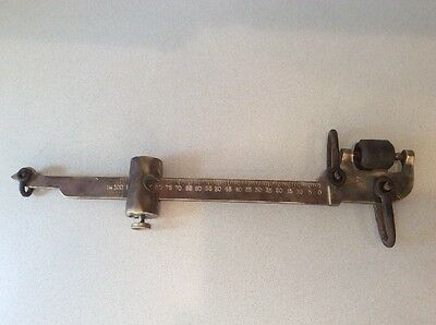 FAIRBANKS BEAM SCALE   Antique Brass Grain Scale 100 LBS