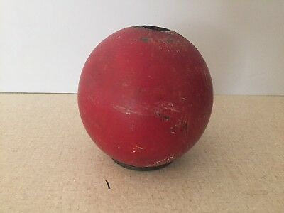 ANTIQUE Painted Wooden Red Ball from WEATHER VANE LIGHTNING ROD Primitive