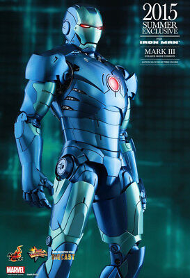 Iron Man -IRON MAN Mk 3 Stealth Diecast 1:6 Scale Figure MMS314-D12 Hot Toys NEW