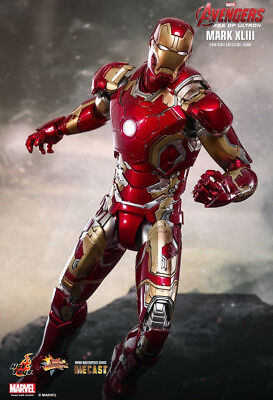 Avengers 2 - IRON MAN Mk 43 Diecast 1:6 Scale Figure MMS278-D09 Hot Toys NEW