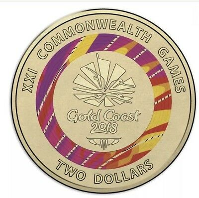Rare Red $2.00 Commonwealth Games Coin . Limited release coin