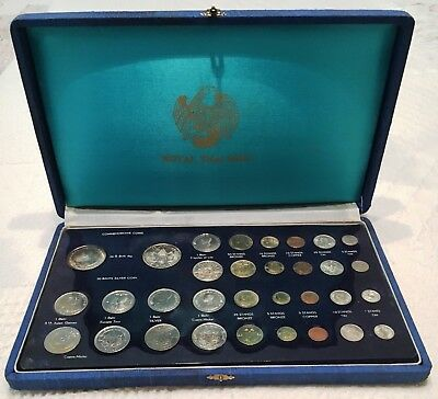 1963 Thailand 32 Coin Royal Mint Set With Silver