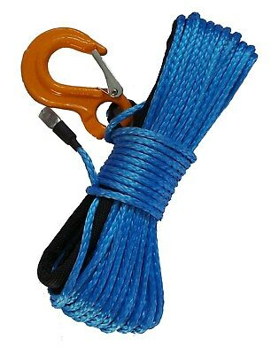 ATV & UTV Synthetic Winch Rope - 4500lb rating (Blue)