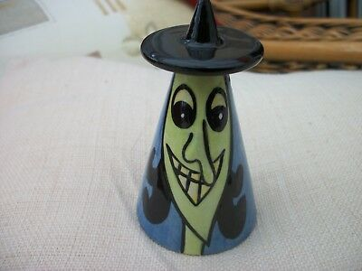 "Lorna Bailey ""Witch"" Sugar Shaker Excellent Condition Signed"