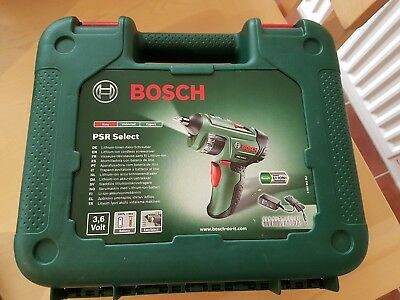 Bosch PSR Select 3.6V Cordless Screwdriver Li-Ion hardly used