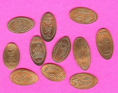 Disneyland Disney World  Mickey Mouse and Friends Elongated Smashed Penny Lot