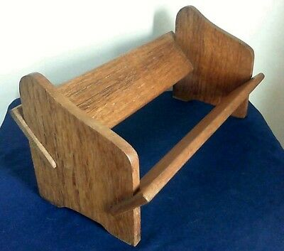 Vintage Oak Book Trough / Stand / Rack