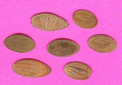 MILITARY WWI WAR Battleship Texas Army Navy  Elongated Smashed Penny Lot