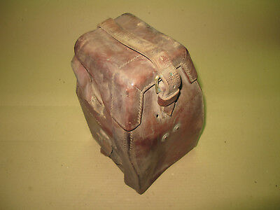 WW2 British leather Case No.7 Dial Sight No.1 25 Pounder Cannon Artillery