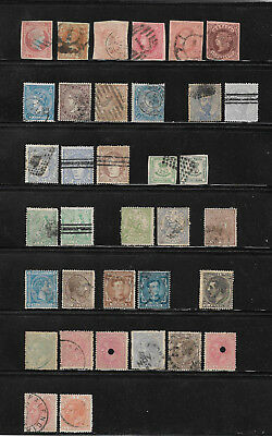 Spanien, Espana, Spain, o/used Lot ca. 1856 - 1882 ab Isabella II., 2 Scans !