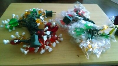2 M&M's Happy Lights Collectible Christmas Tree String Light Covers Party Decor