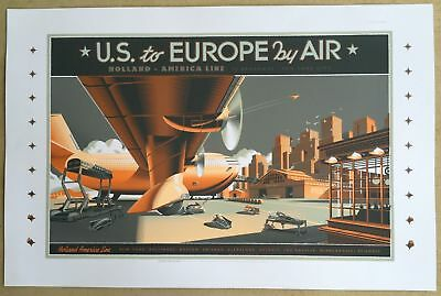 Laurent Durieux - US To Europe By Air - Rare Test Print 2013 - Mondo Artist