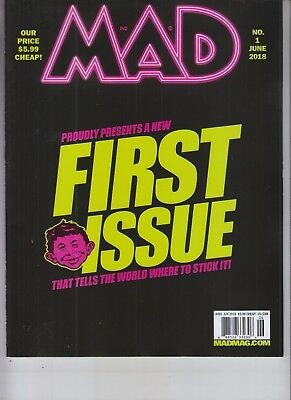 """first Look"" Mad Magazine June 2018 No Label Issue #1"