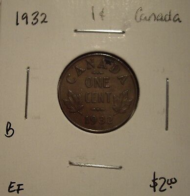 B Canada George V 1932 Small Cent - EF