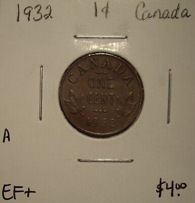 A Canada George V 1932 Small Cent - EF+