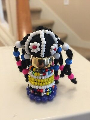 "African Ndebele Hand Made fertility doll (2.5"")"