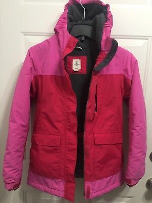 Lands End Kids Girls Squall L 14 Jacket Coat  Waterproof Pink