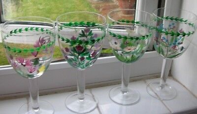 Portmeirion Glasses 4 - Botanic Flowers And Insects