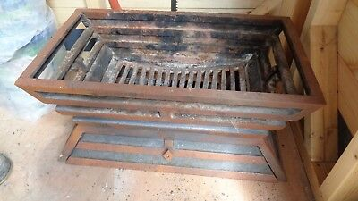 old fire basket very heavy with grate, tray and front