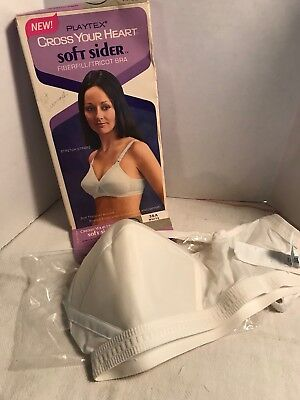 Vintage Playtex 18 Cross Your Heart Bra Size 36 A with Box # 961 White NOS Box