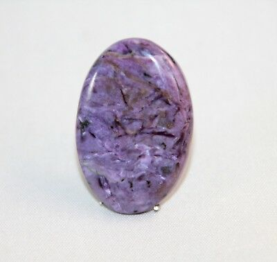 Natural Charoit, Charoite Cabochon Oval ,  Edelsteine 36x25x4mm, 50,5ct. (17)