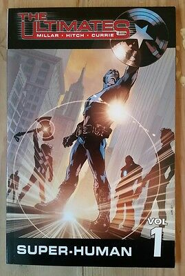 "Ultimates v1 ""Super-human"" tpb Graphic Novel Mark Millar Bryan Hitch Avengers"