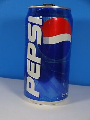 Empty Pepsi Cola Aluminum Can Australia 375 ml  5 1/8""