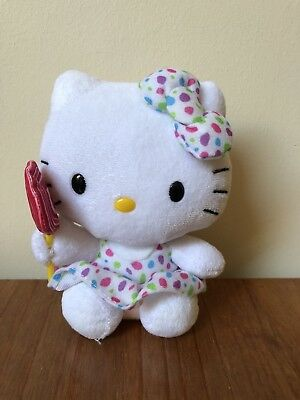 "Ty Beanies Hello Kitty Lollipop 6"" Soft Toy (no Tags)"