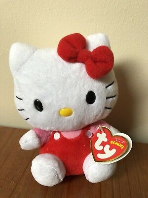 "Ty Beanies Hello Kitty Red Jumper 6"" Soft Toy (with Tags)"