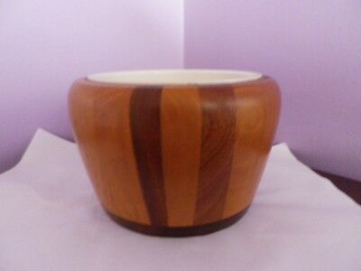 Fab Vintage Wooden Cambridge Ware Planter With Inner Liner 10 Cms Tall15 Cms Dia