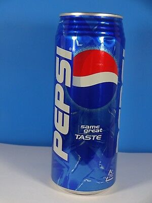 2000s Pepsi Cola Aluminum Can Japan 500 ml  6 1/2""