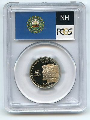 2000 S 25C Clad New Hampshire Quarter PCGS PR70DCAM