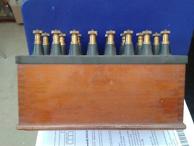 resistance box.  Fixed resistances, Lacquered brass terminals.  Made bu Muirhead