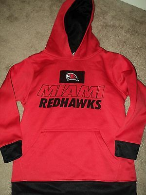 MIAMI REDHAWKS OHIO YOUTH HOODIE SHIRT SIZE S SMALL 6/7 AM Boys Girls NCAA